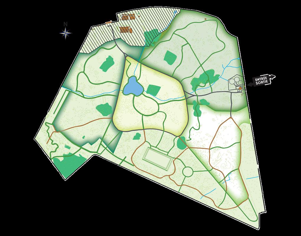 Plan du parcours complet de l'Arboretum