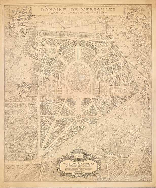 Projet du Jardin de Jussieu de 1922 dessiné par François-Benjamin Chaussemiche